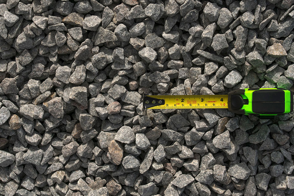 Piedra granítica triturada